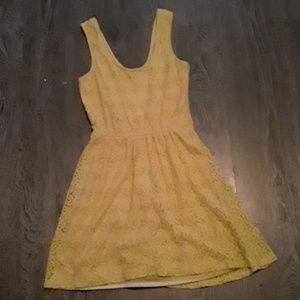 yellow lace ish dress